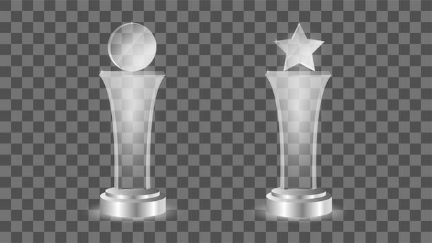 Modelo de prêmio de vidro