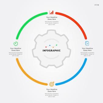 Modelo de processo de infográfico de negócios