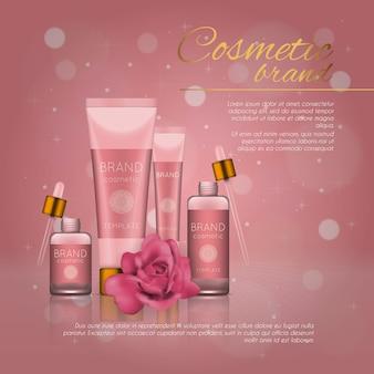 Modelo de produto cosmético realista