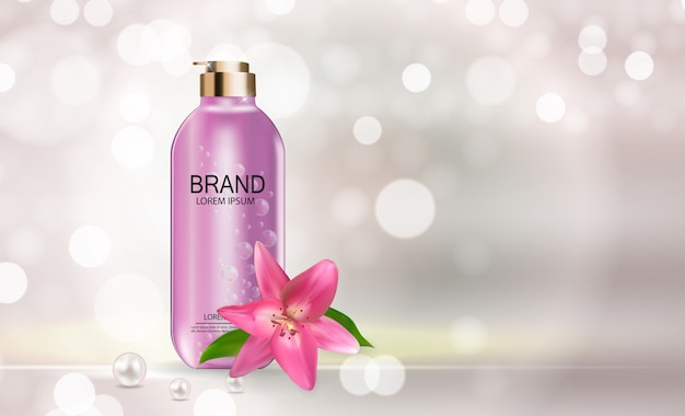 Modelo de produto de cosméticos