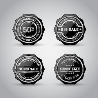 Modelo de produto para crachá e etiqueta de metal prateado