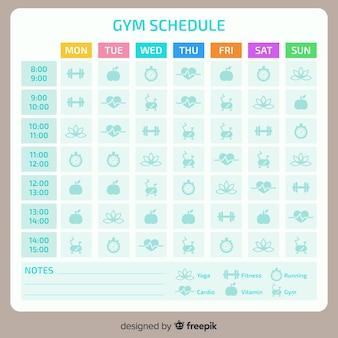 Modelo de programação de fitness