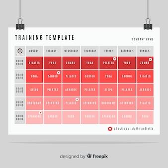 Modelo de programação de ginásio ou fitness