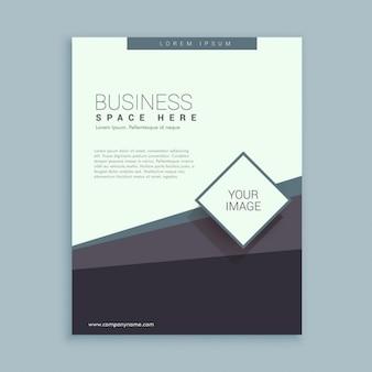 Modelo de projeto do folheto para o negócio