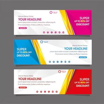 Modelo de promoção de banner da web super desconto oferta venda especial