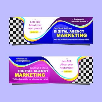 Modelo de promoção de banner de agência de marketing digital moderna