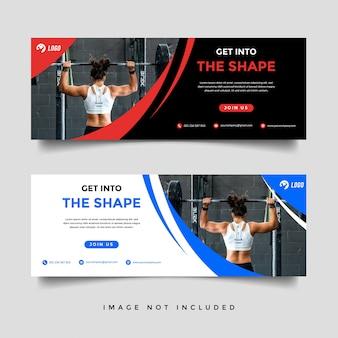 Modelo de promoção de banner de ginásio e fitness