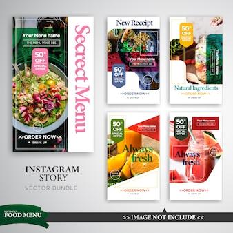 Modelo de promoção de food & culinary instagram stories