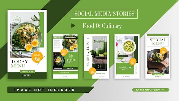 Modelo de promoção de histórias do instagram para comida e culinária