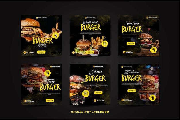 Modelo de promoção de mídia social delicious burger para instagram