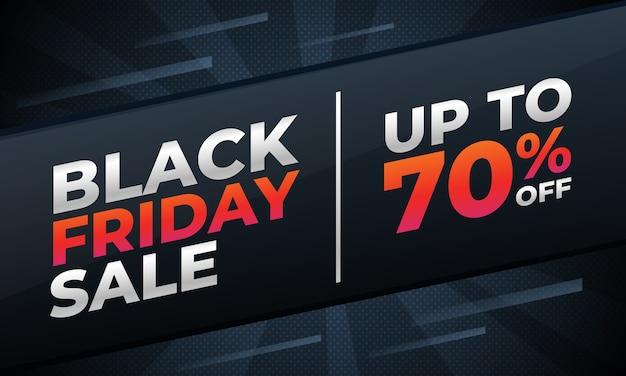 Modelo de promoção de venda de banner black friday