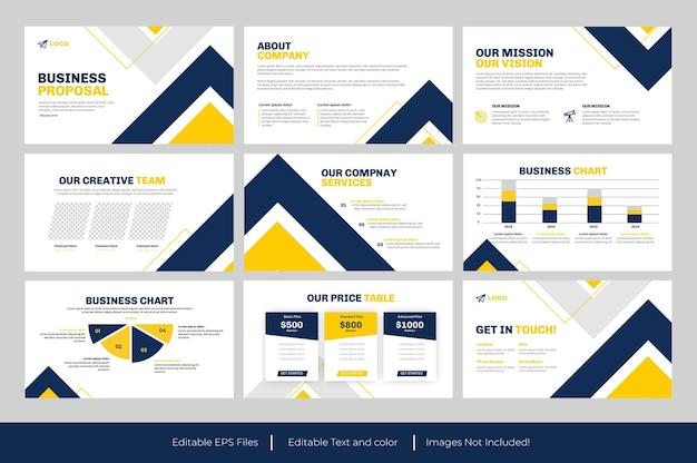 Modelo de proposta de negócio em powerpoint