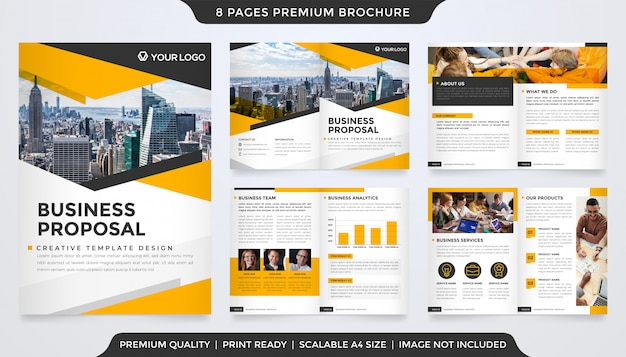 Modelo de proposta de negócios estilo premium