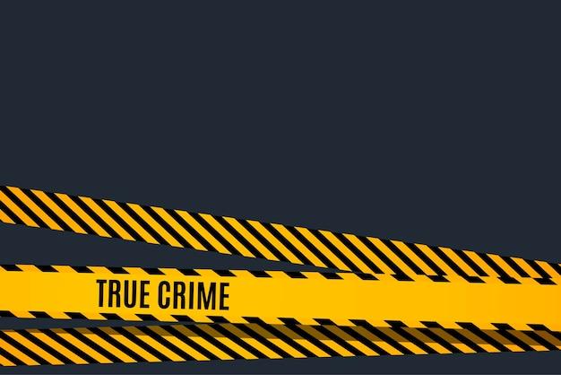 Modelo de protetor de tela de filme de investigação de crime com fita amarela e preta. ilustração vetorial.
