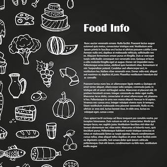 Modelo de publicidade de comida de quadro-negro