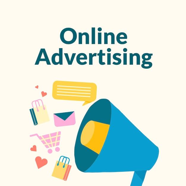 Modelo de publicidade online editável para postagem em mídia social