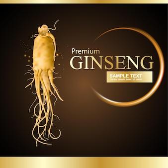 Modelo de publicidade ou promoção de ginseng