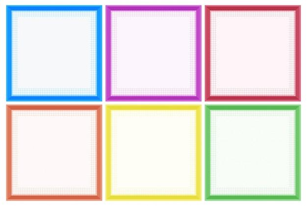Modelo de quadro com bordas coloridas