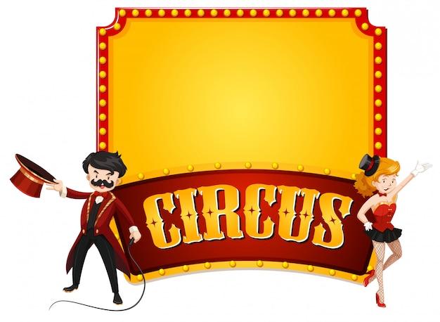 Modelo de quadro com tema de circo