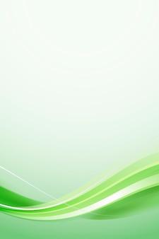 Modelo de quadro de curva verde