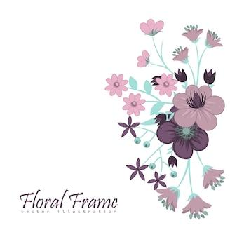 Modelo de quadro de flores. ilustração vetorial.