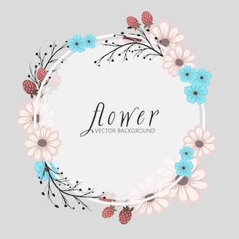 Modelo de quadro de flores.