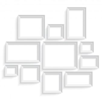 Modelo de quadro de imagem em branco