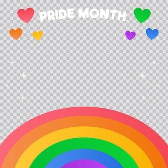 Modelo de quadro de mídia social gradiente para o dia do orgulho