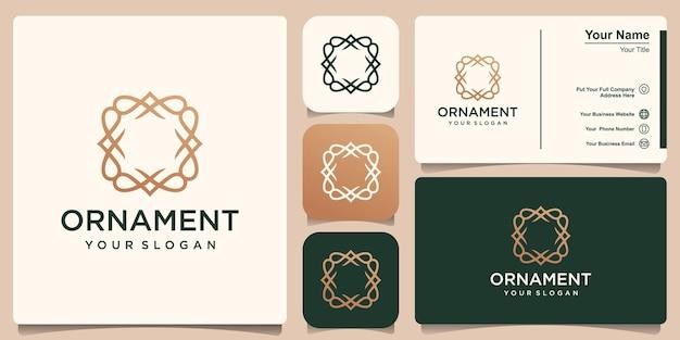 Modelo de quadro de monograma vintage simples