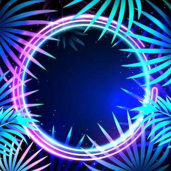 Modelo de quadro de néon