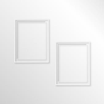 Modelo de quadro vazio moldura conjunto isolado na parede