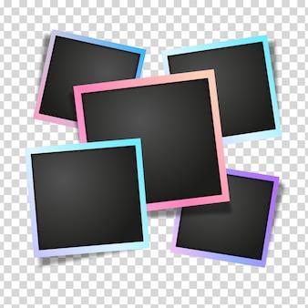 Modelo de quadros de fotos gradiente