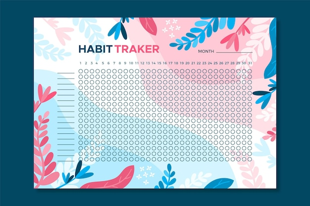 Modelo de rastreador de hábitos florais