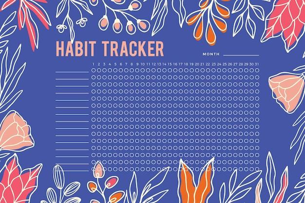 Modelo de rastreador de hábitos