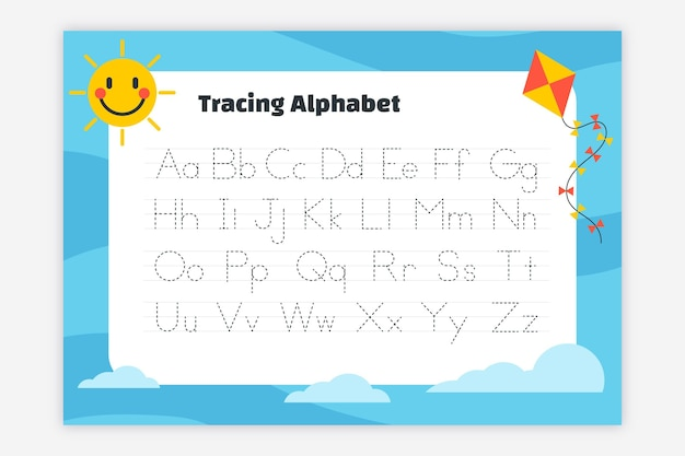Modelo de rastreamento de alfabeto criativo
