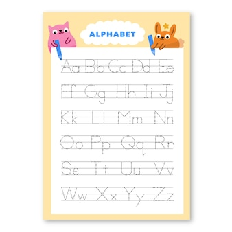 Modelo de rastreamento de alfabeto