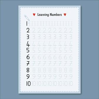 Modelo de rastreamento de número minimalista