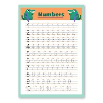 Modelo de rastreamento de números