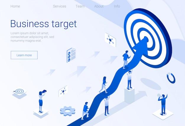 Modelo de realização de meta da página inicial de destino de negócios
