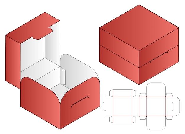 Modelo de recorte de embalagem de caixa