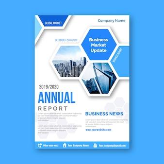 Modelo de relatório anual abstrato com foto