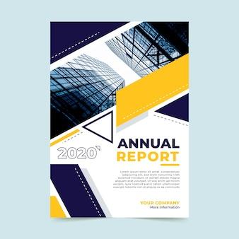 Modelo de relatório anual abstrato com imagem