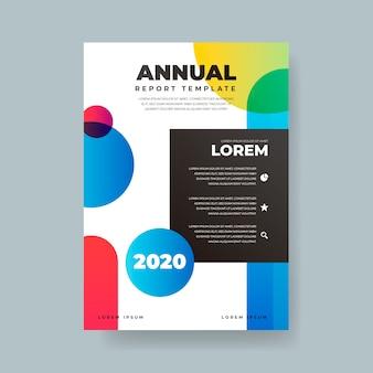 Modelo de relatório anual colorido abstrato