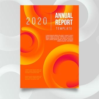 Modelo de relatório anual colorido