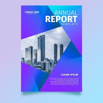 Modelo de relatório anual com foto