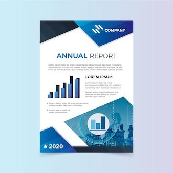 Modelo de relatório anual com gráficos