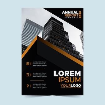 Modelo de relatório anual com imagem
