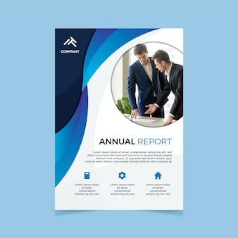 Modelo de relatório anual corporativo com foto