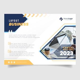 Modelo de relatório anual corporativo de negócios