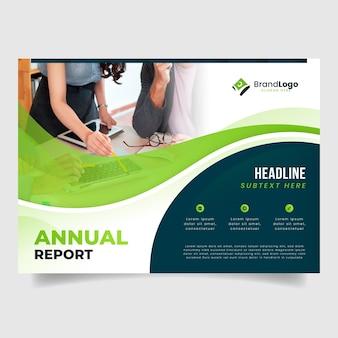 Modelo de relatório anual corporativo